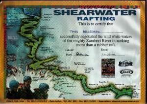 Rafting Certificate