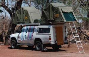 Van with a Tent