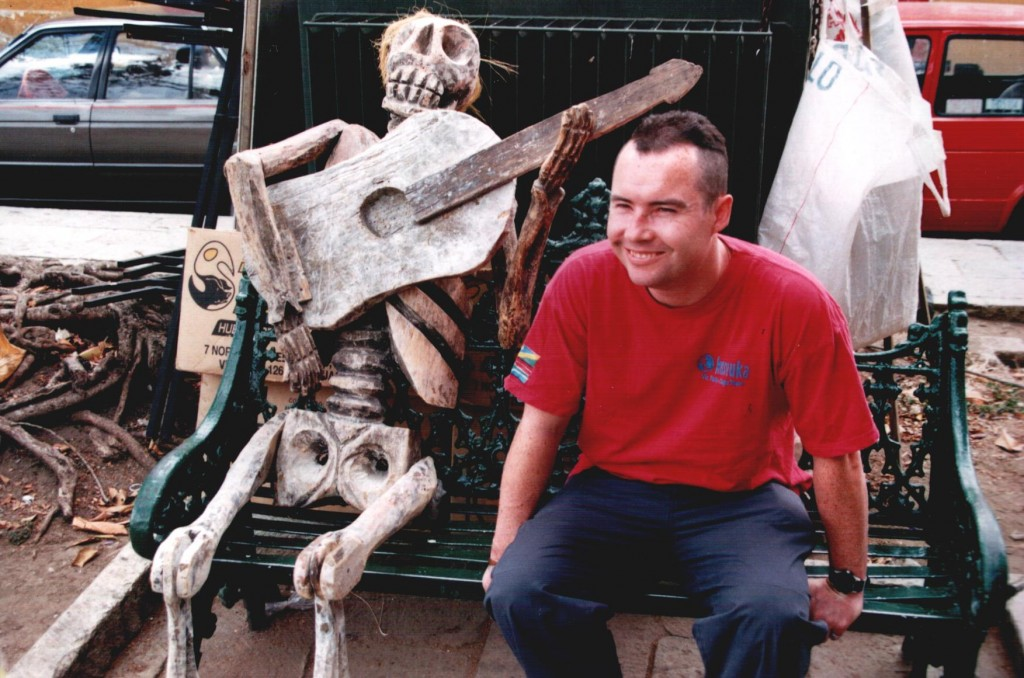 Me with a wooden skeleton