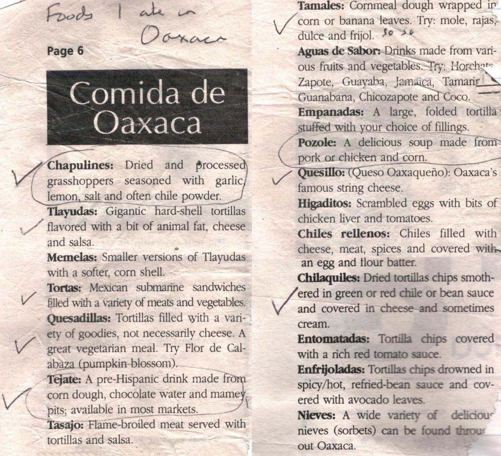Comida De Oaxaca